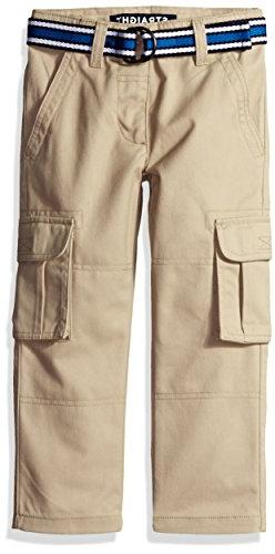 French Toast Little Boys' Toddler Belted Cargo Pant, Khaki,