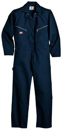 Dickies Men's Long Sleeve Deluxe Coverall, Dark Navy, Small-