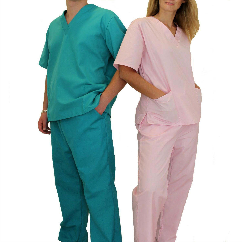 medical doctor nursing scrubs full set unisex
