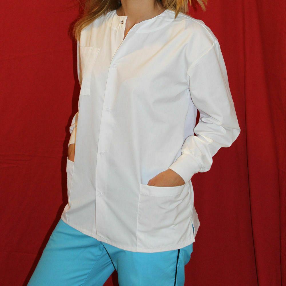 Medical MD Nursing Long Sleeve Scrubs Warmup Jacket  XS-S-M-