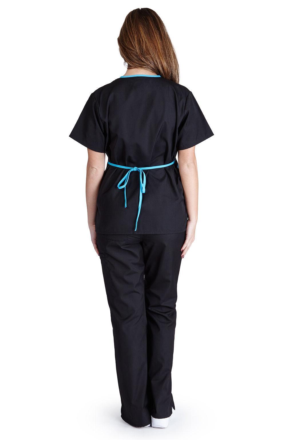 Medical Scrubs UNIFORMS Contrast Mock Size XS S M L XL