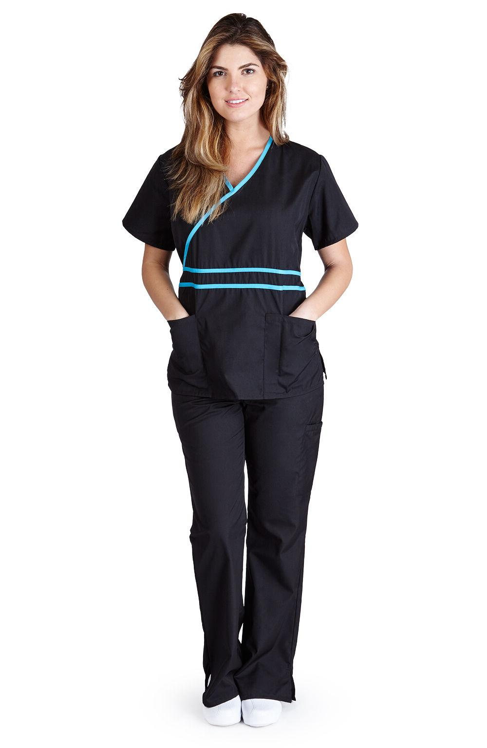 Medical Nurse Scrubs UNIFORMS Mock Set Size S M L XL 2XL
