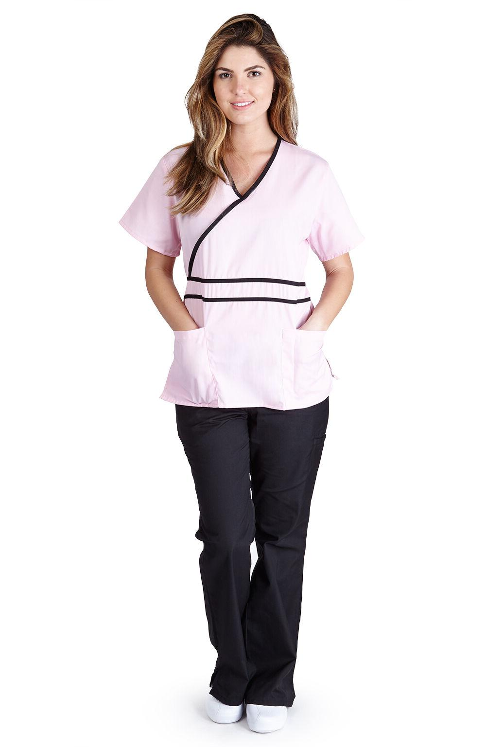 Medical Nurse Scrubs Size XS S M L 2XL