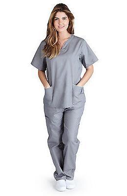 Medical Nurse Uniforms Contrast Scallop Sets XL