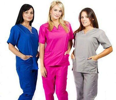 Medical Nurse Women Natural Uniforms Sets Size XL