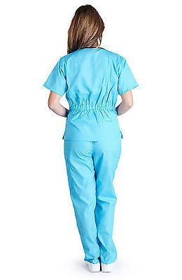 Medical Uniforms Contrast Scallop Sets Size XL