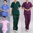 Medical Nursing Hospital Scrub Sets Unisex Uniform Top & Bot