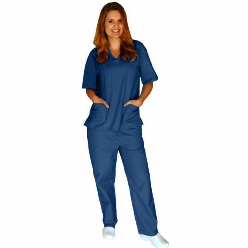 Medical Men Solid Scrub Set & Pants Hospital XS-5XL