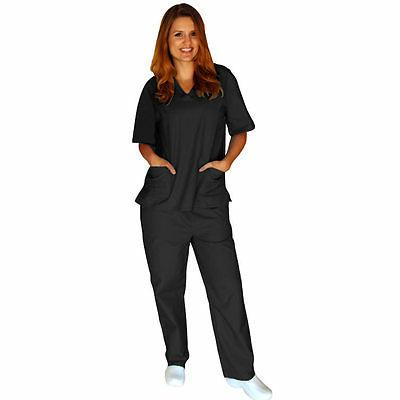 Medical Women Unisex Scrub Top Pants Hospital Clinic New