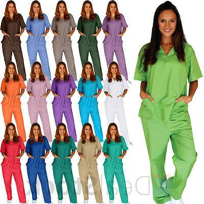 medical nursing men women unisex scrub set