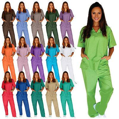 medical nursing scrub set men women unisex