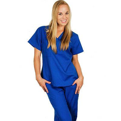 Medical Nursing Ultra Soft Scrubs Uniforms For Women Tops Pa