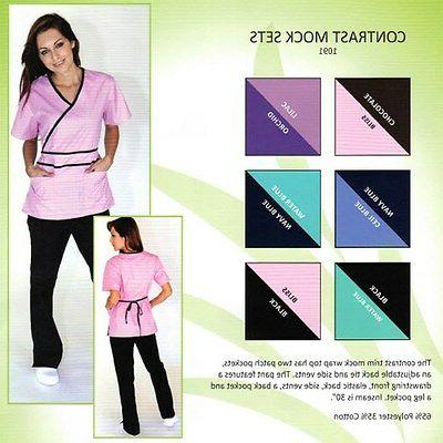 Medical NATURAL UNIFORMS Contrast Mock Sets 3XL