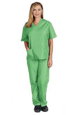 Medical Scrub Unisex Men Women Natural Nursing set Pants