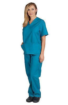 Medical Scrub Women Natural Nursing & Pants