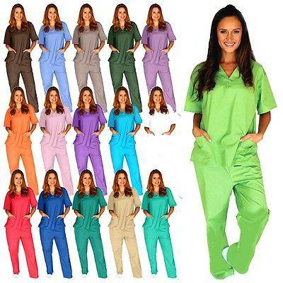 medical scrub unisex men women hospital nursing