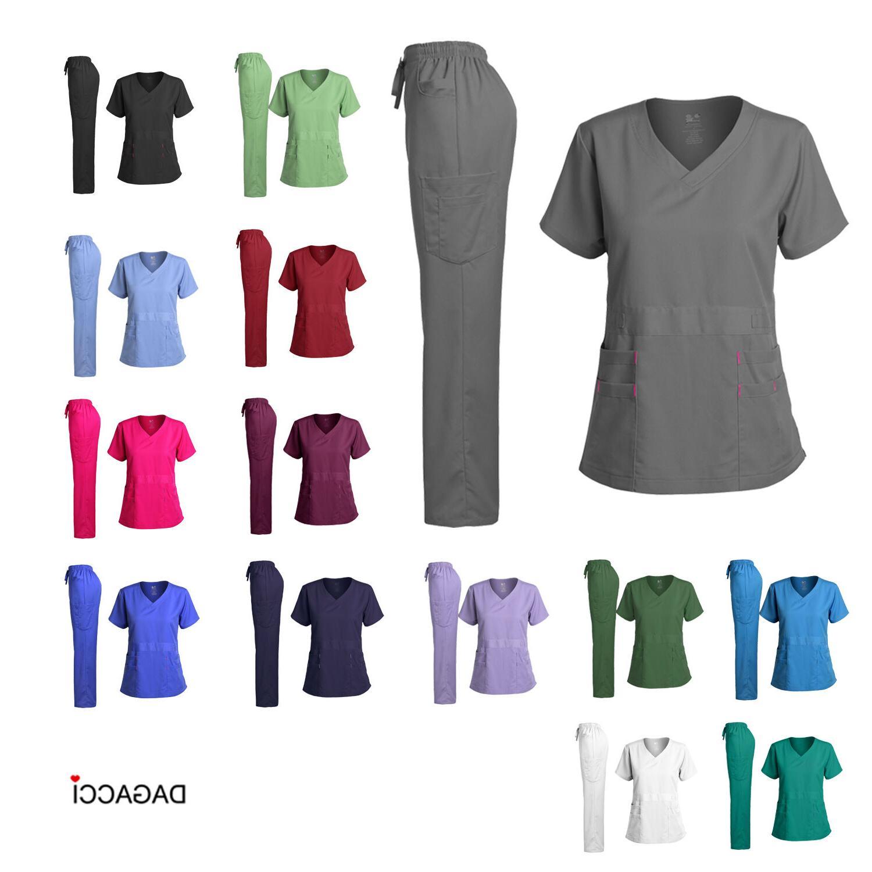 Dagacci Medical Uniform Women's Scrubs Set Stretch Ultra Sof