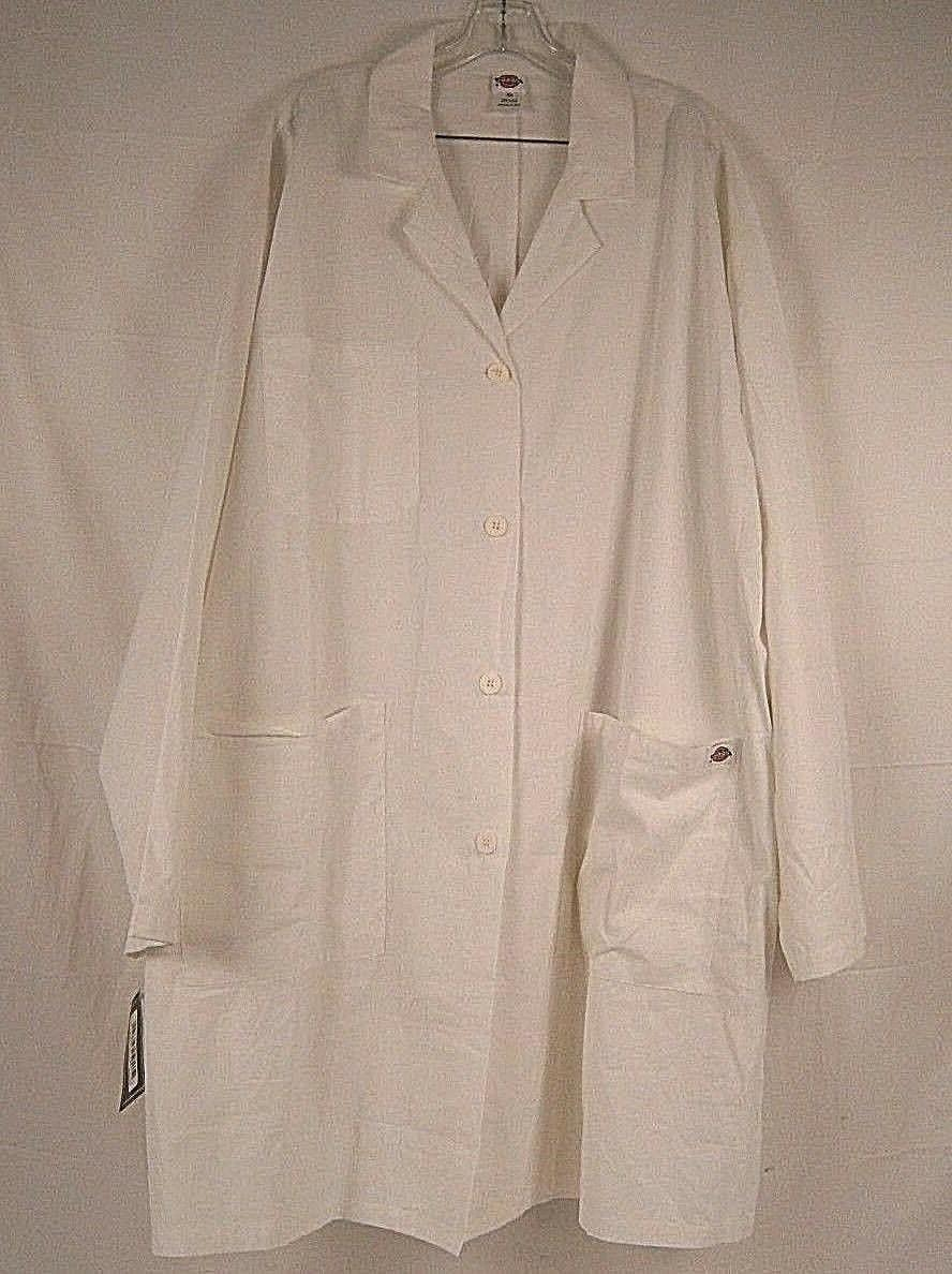 Dickies Medical Uniforms Draw Lab Coat 72501X DWH Dickies Wh