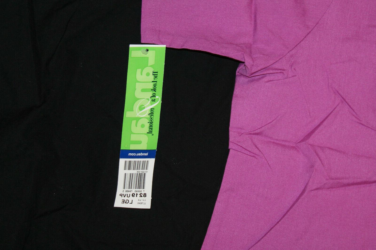 Landau Scrubs Top Violet NWT Size L