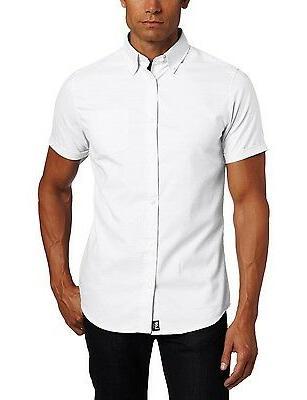 men s lee white oxford shirt button