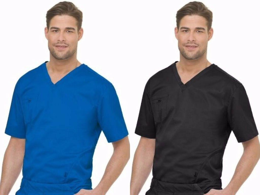 LANDAU MEN'S NURSING UNIFORM BREATHABLE BANDED V NECK SCRUB