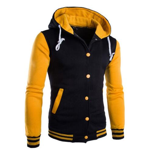 Men's Baseball Jacket Hooded