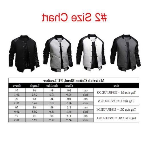 Men's Baseball Jacket Coat Hooded