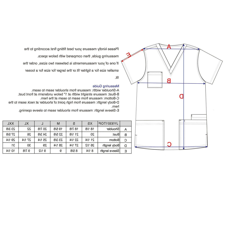Stretch Medical Uniforms Plus Size JY9301