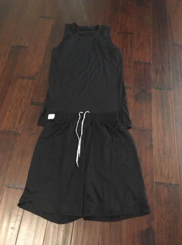 mens black basketball shirt short uniform sz