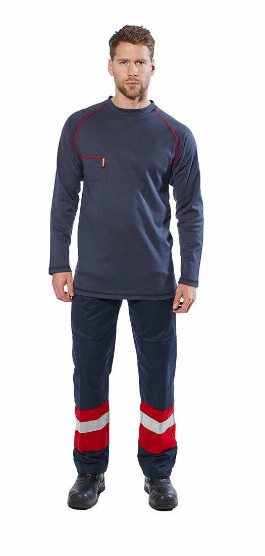 Mens FR01 & Flame Resistant Sleeved Crew & Button-Down