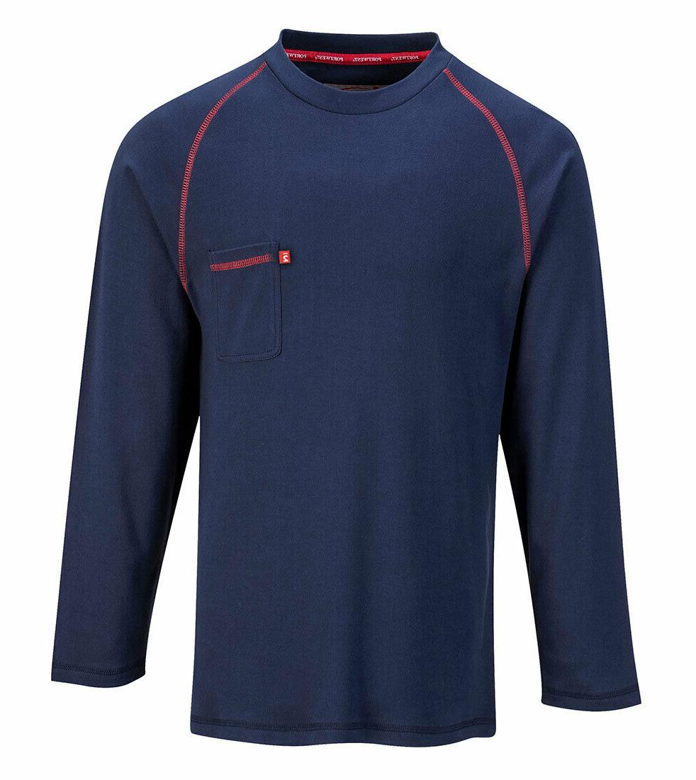 Mens Flame Resistant Crew Button-Down Tops