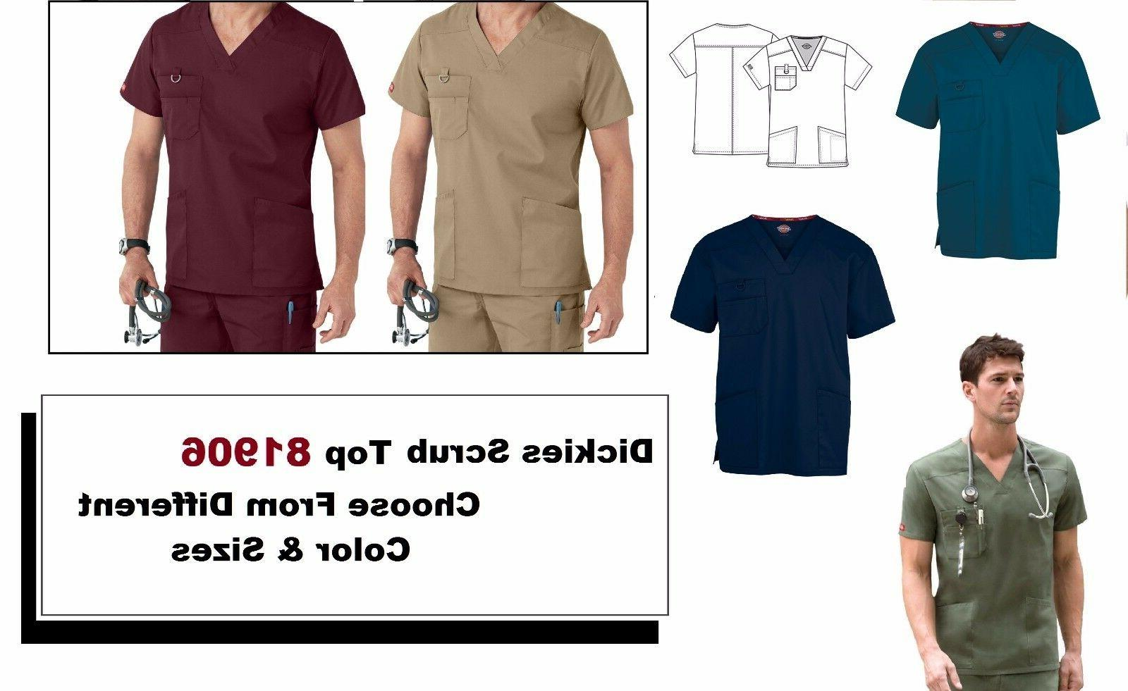 mens scrubs eds signature v neck top