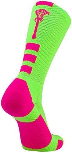 TCK Sports Lacrosse Logo Crew Socks
