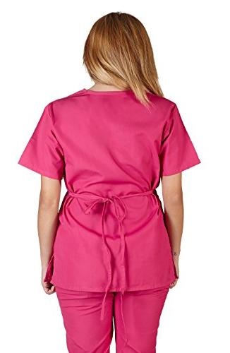Natural Uniforms Mock Wrap/Flare Scrub Set