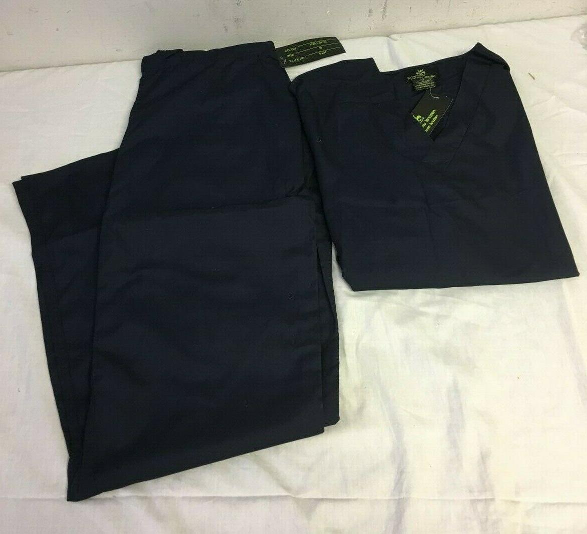 navy blue scrub set medium