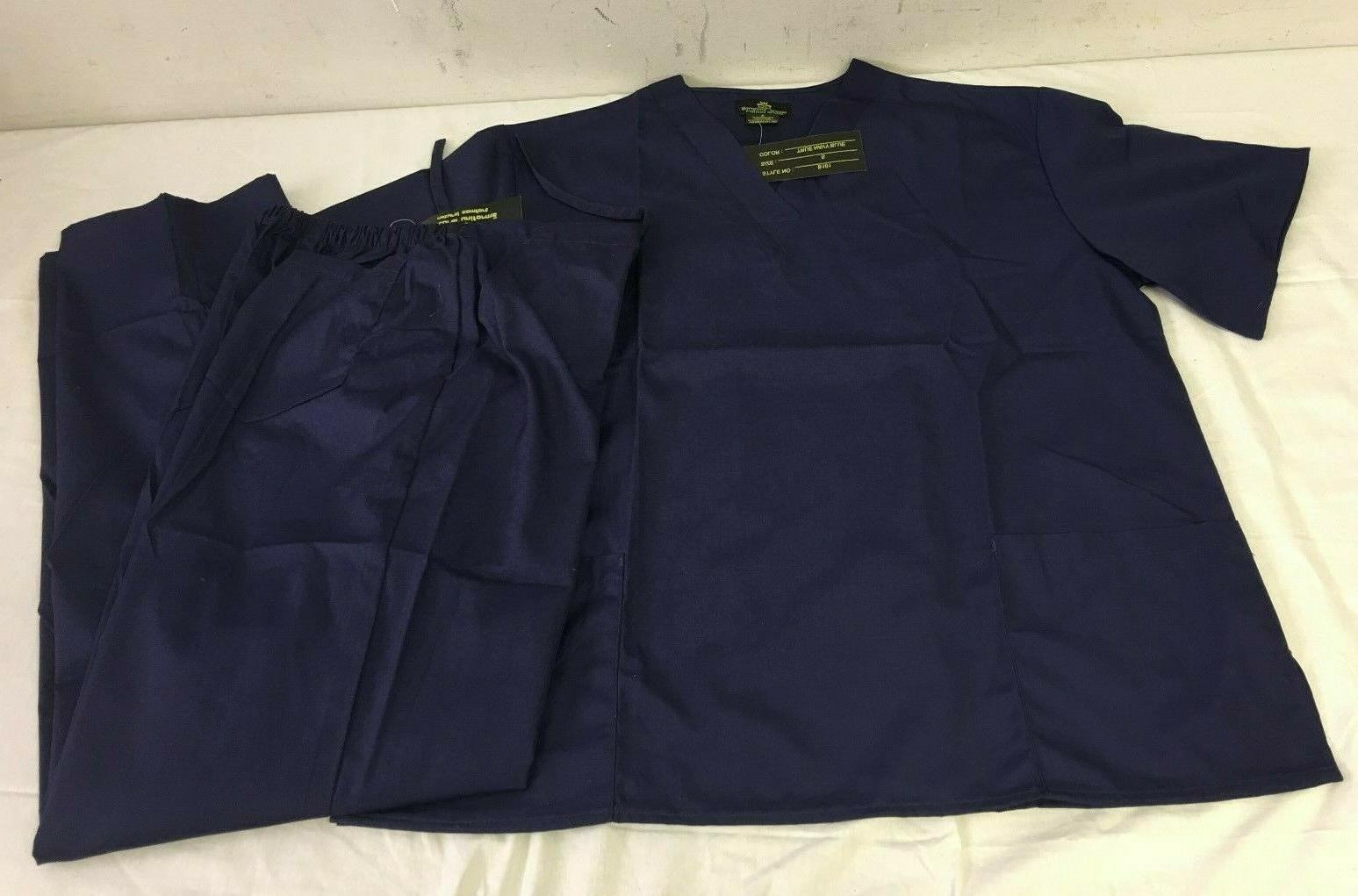 navy blue scrub set small