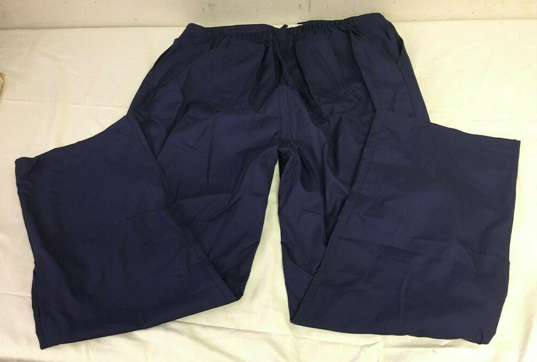 Natural Uniforms Navy Blue Scrub Set