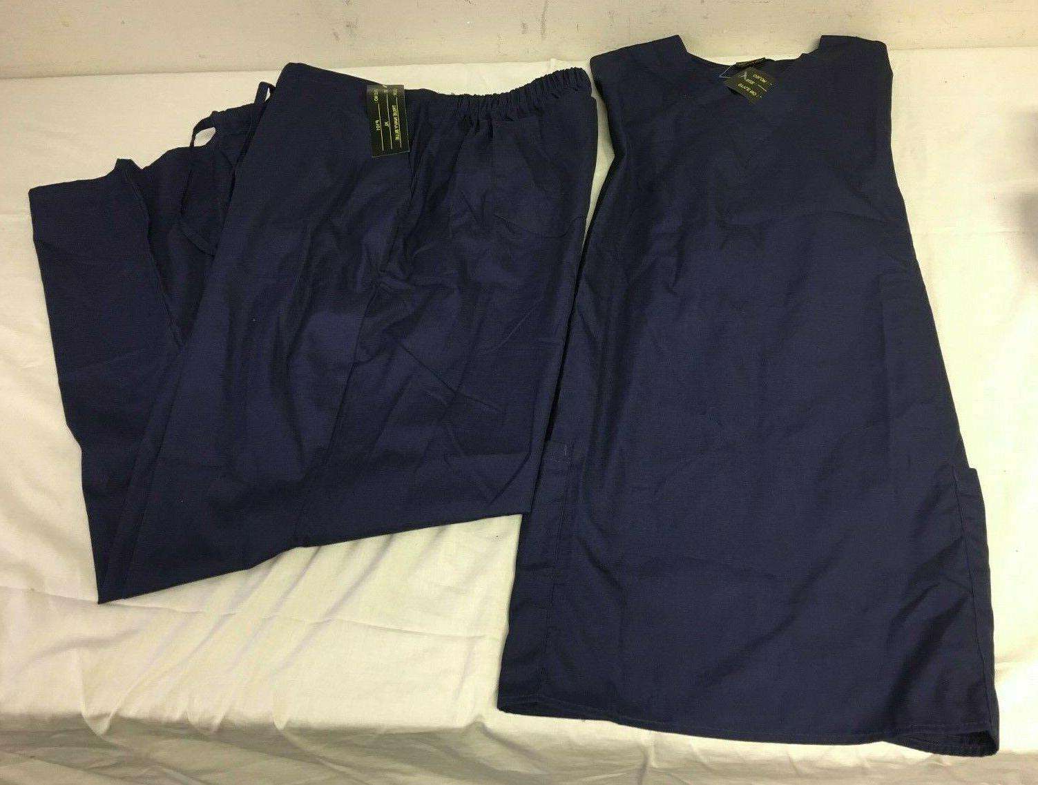 navy blue scrub set xs