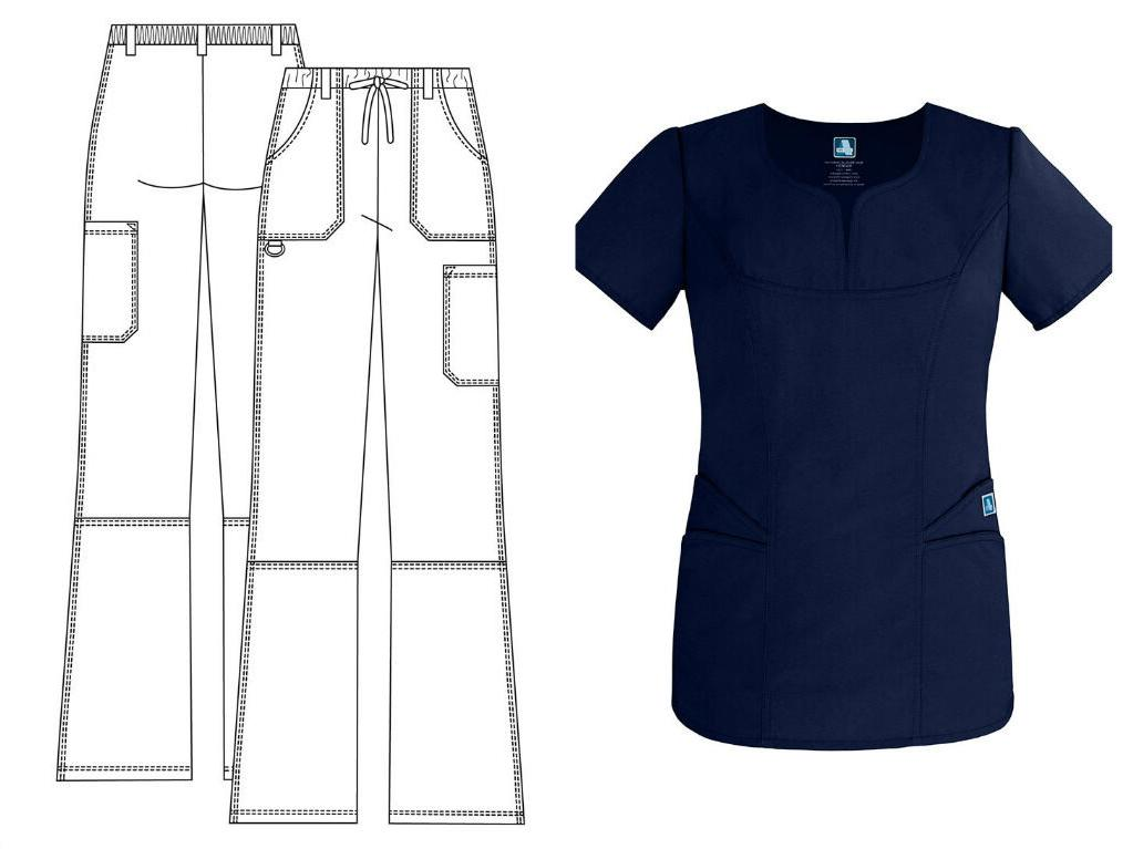 New Adar 2632 Top Medical Scrub for Women>Pants or Top>Low R