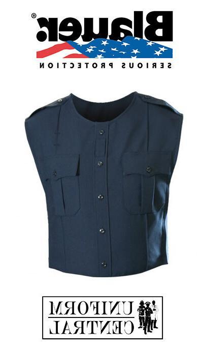 new dark navy polyester armorskin vest outer