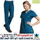 New MAEVN EON Active V-Neck Top & Cargo Pants SET Medical Sc