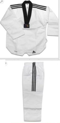 New Adidas Grand Master II TAEKWONDO UNIFORM WITH 3 Stripes