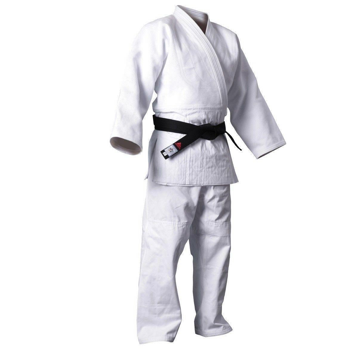 New adidas Judo Training White Gi Uniform Single Weave 100%