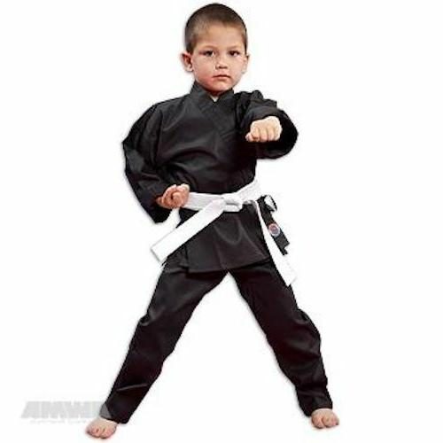 NEW Proforce Lightweight Karate Uniform Gi BLACK with White