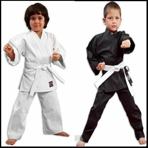 new lightweight karate uniform gi white black