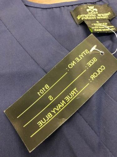 NEW Natural uniforms scrub set Size True Navy