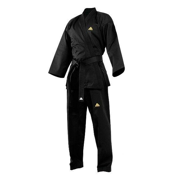 NEW adidas Taekwondo Uniform Open BLACK uniform ITF/Moo Duk