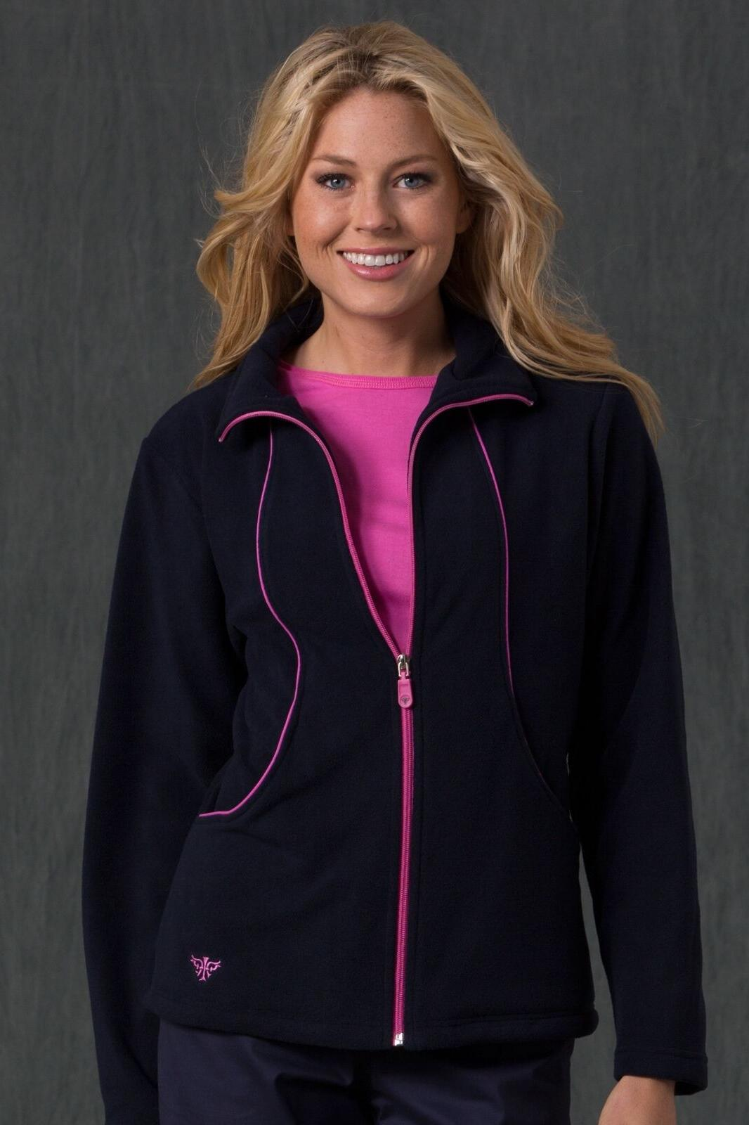 NEW WOMEN MED COUTURE DESIGNER NURSING UNIFORM FLEECE JACKET