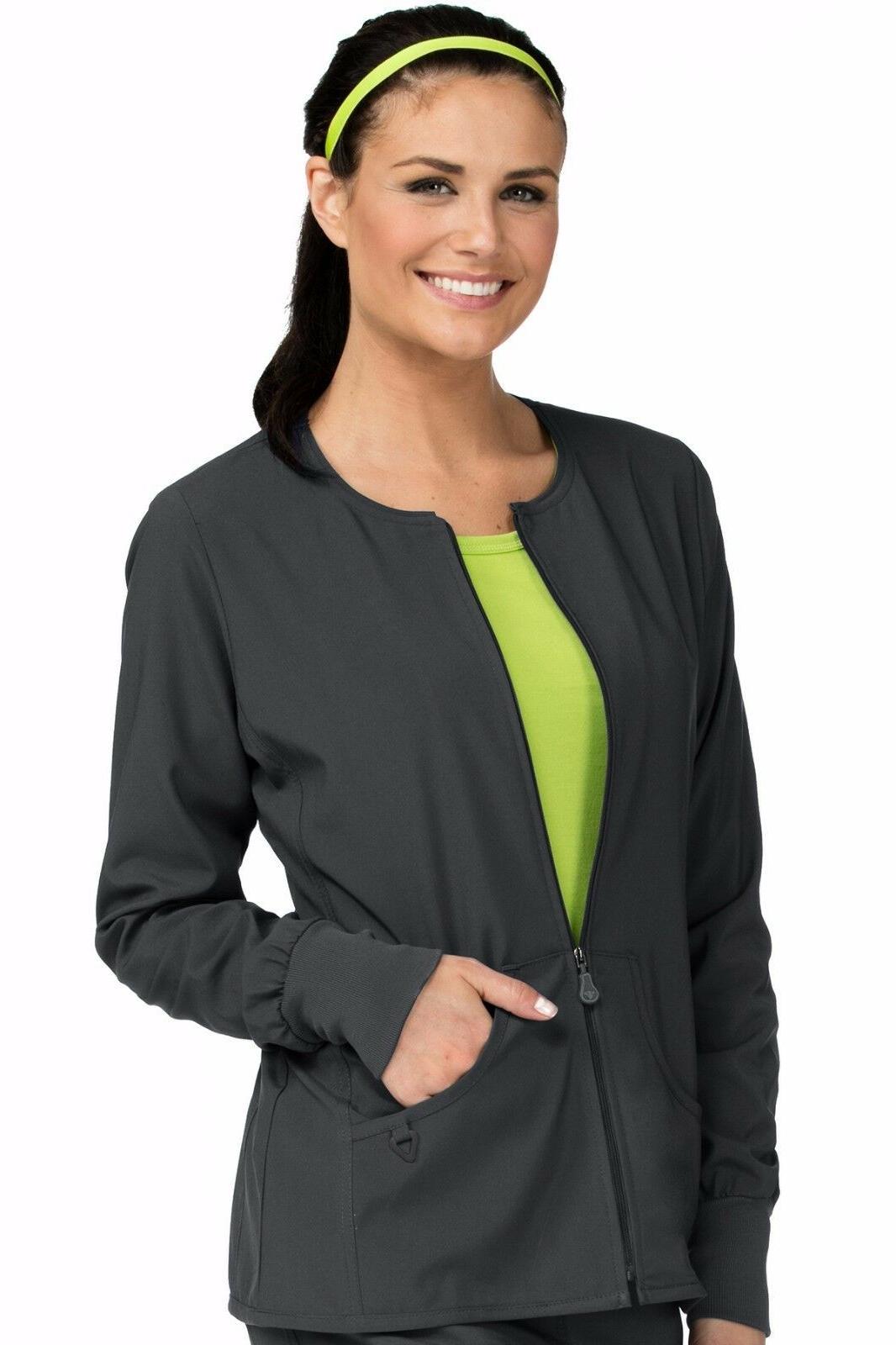 new women zip front nursing uniform warm