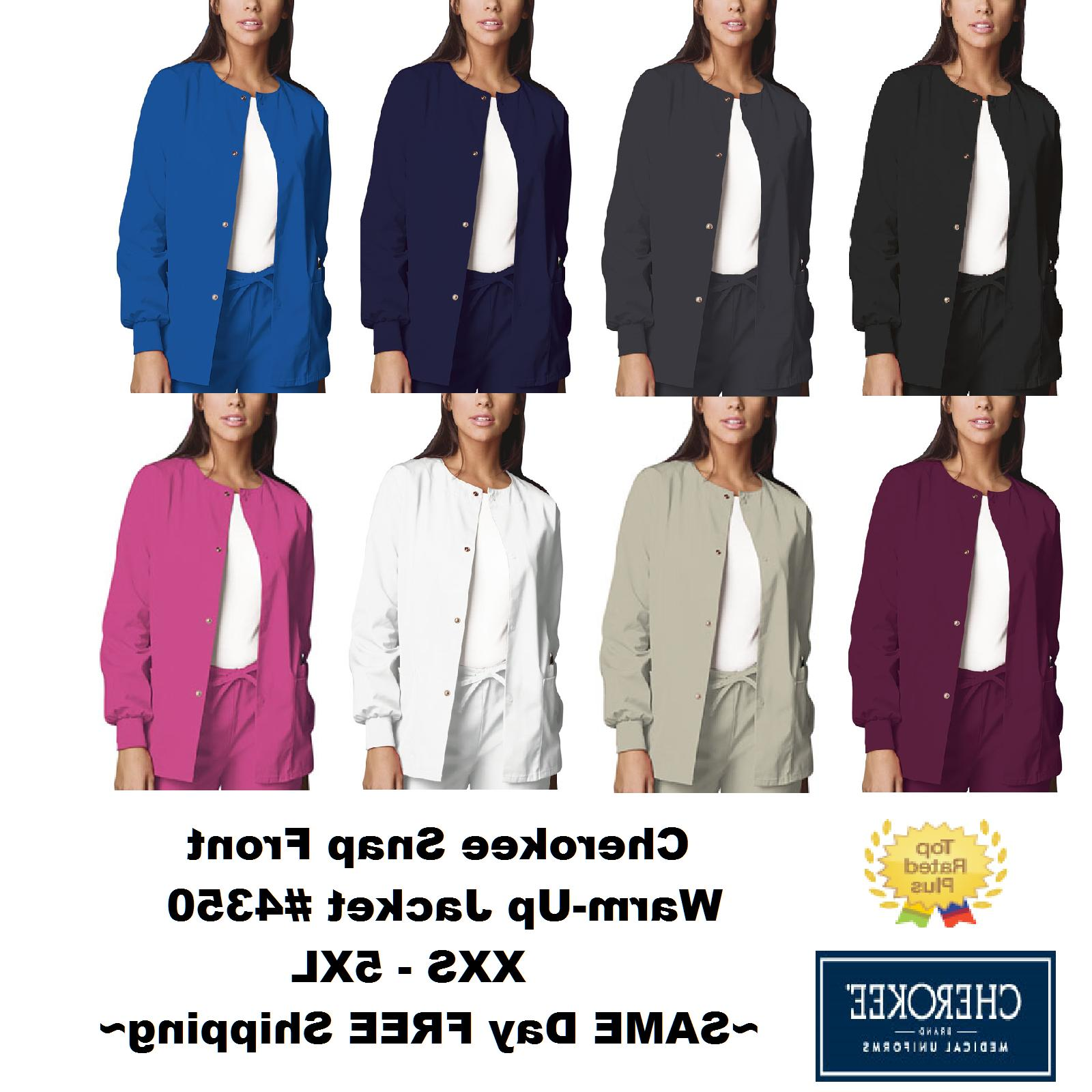 nurses scrub workwear snap front jacket style